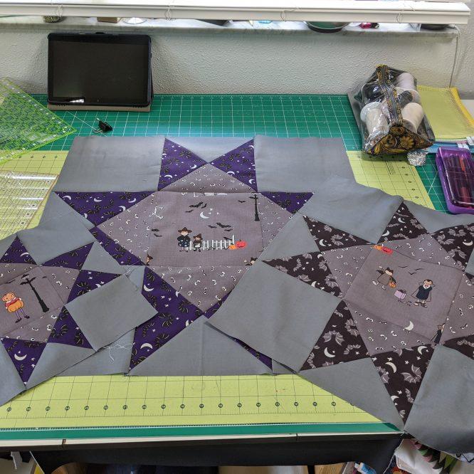 Spooky Sampler Quilt Week 1 Sew Along