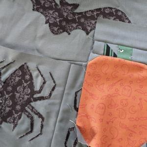Spooky Sampler Quilt Along Week 3 Applique Bats, Spiders and Pieced Pumpkins