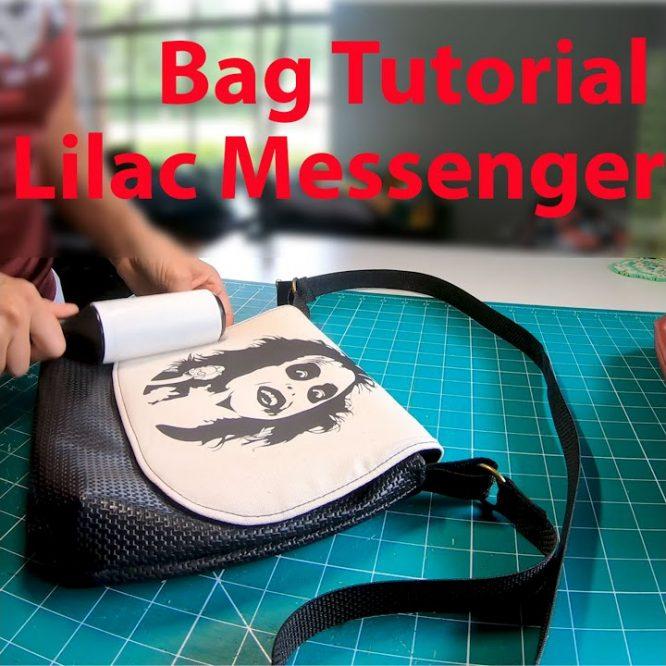 Lilac Messenger Bag Tutorial Video