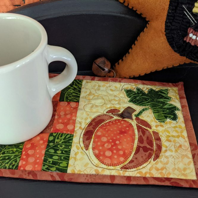 Fast and Easy Pumpkin Mini Quilt Tutorial to Celebrate the Fall Season