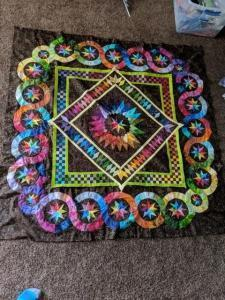 It took 7 YEARS to make this Rainbow Quilt