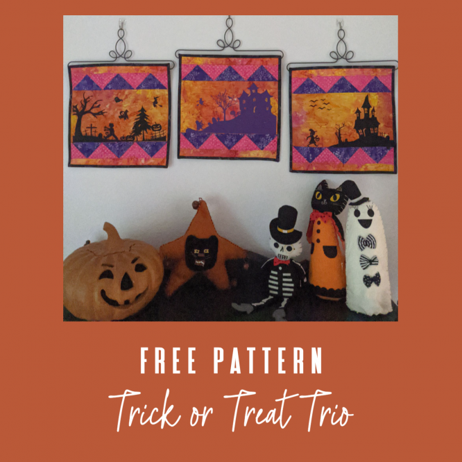 Cute & Fun Trick Or Treat Quick Quilt And Cricut Panels To Create A Mini Quilt