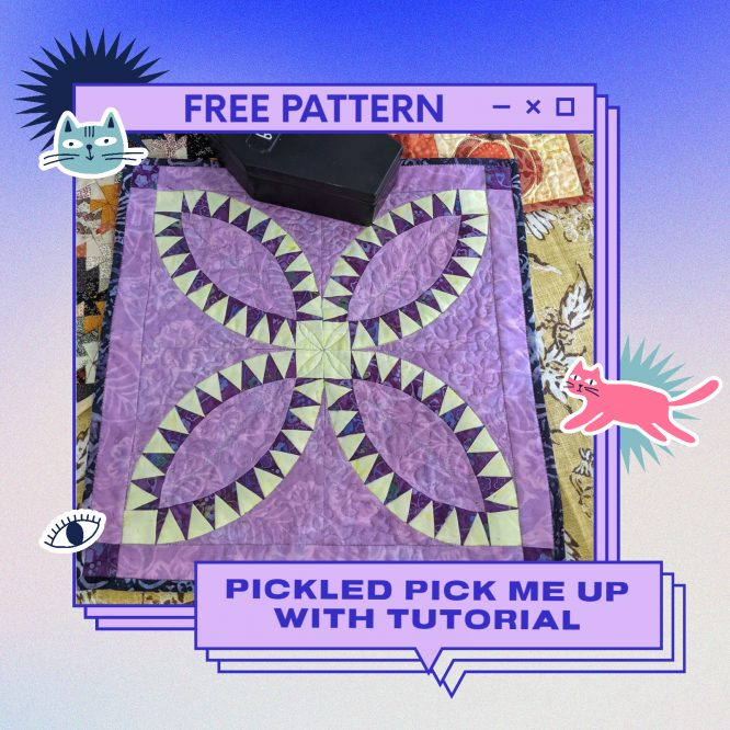 Pickled Pick Me Up Paper Piece, Say that 10 times fast.  Free Pattern and Tutorial
